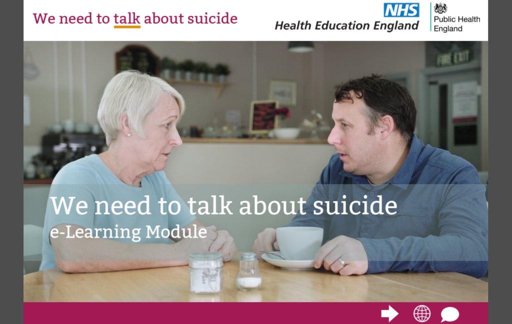 We need to talk about suicide - eLearning programme